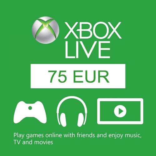 Cartes 75 Euro Xbox Live