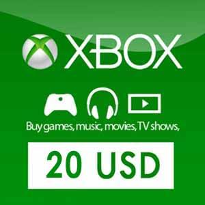 20 Dollars Xbox Live