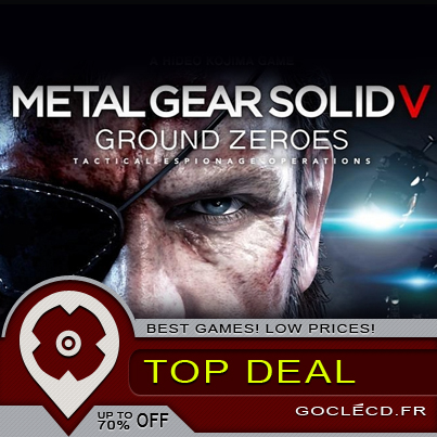 Metal Gear Solid V ground zeroes : disponible ce soir sur Steam