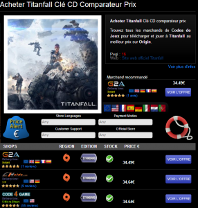 Acheter Titanfall Clé CD au meilleur prix