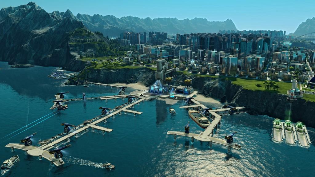 Anno2205 ville portuaire