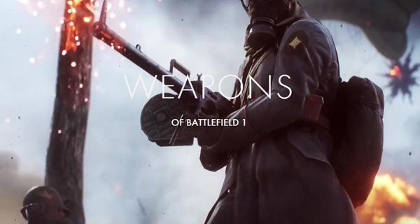 Liste des armes Battlefield 1