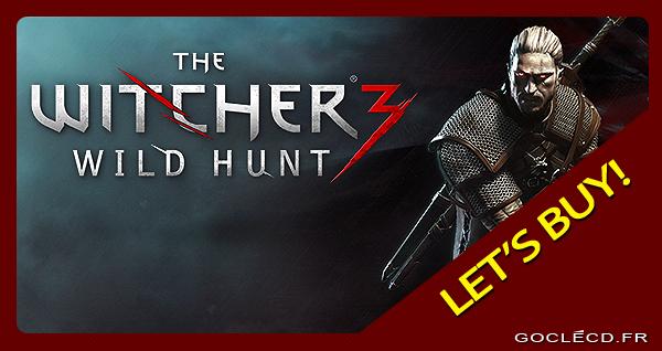Clé cd The Witcher 3 Wild Hunt moins cher