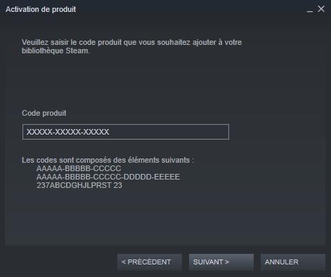 Clé cd Steam