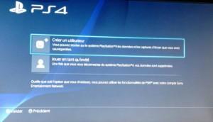 Créer un utilisateur PS4