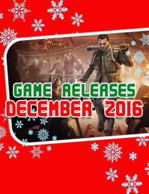 Sorties jeux vidéos Décembre 2016 : Des jeux bouillants pour réchauffer vos vacances
