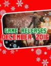 Sorties jeux vidéos Décembre 2016