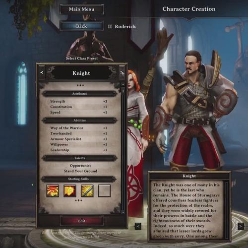 Divinity Original Sin PS4 Création de personnage
