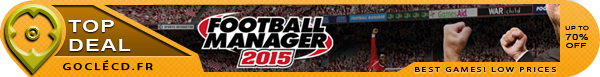 Football Manager 2015 au meilleur prix