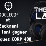 Concours Goclecd.fr / Zack Nani : 4 Casques Gamers The G-Lab KORP 400 à gagner