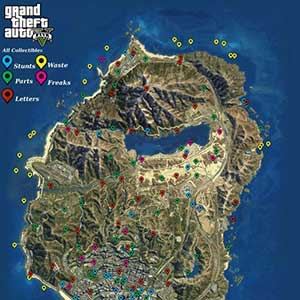 GTA 5 PS4 Carte des Collectibles