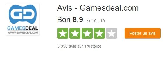 Gamesdeal.com trustpilot
