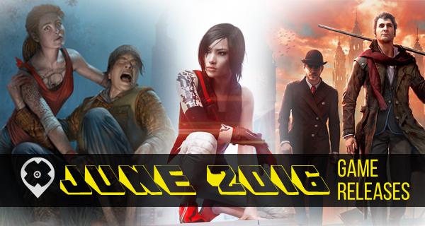 Jeux vidéos sorties juin 2016