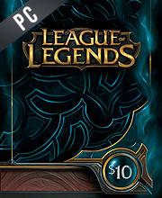 League Of Legends 10 USD Prepaid RP Cards US