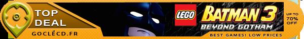Lego Batman Beyond Gotham cle cd moins cher