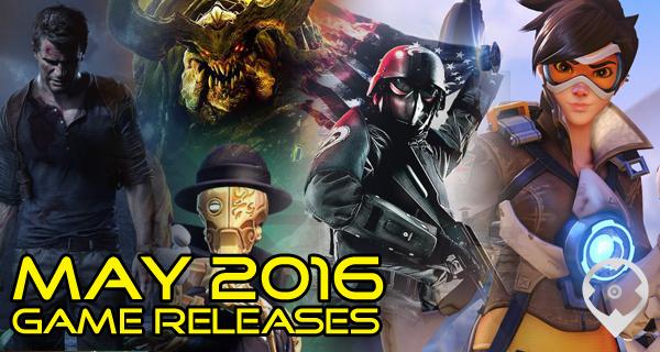 Découverte des sorties jeux vidéos de Mai 2016