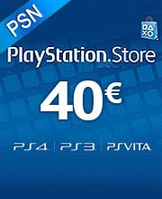 40 Euros Playstation Network