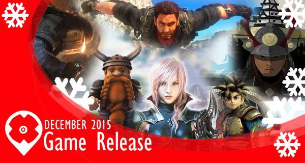 Les sorties de jeux vidéo en Décembre 2015