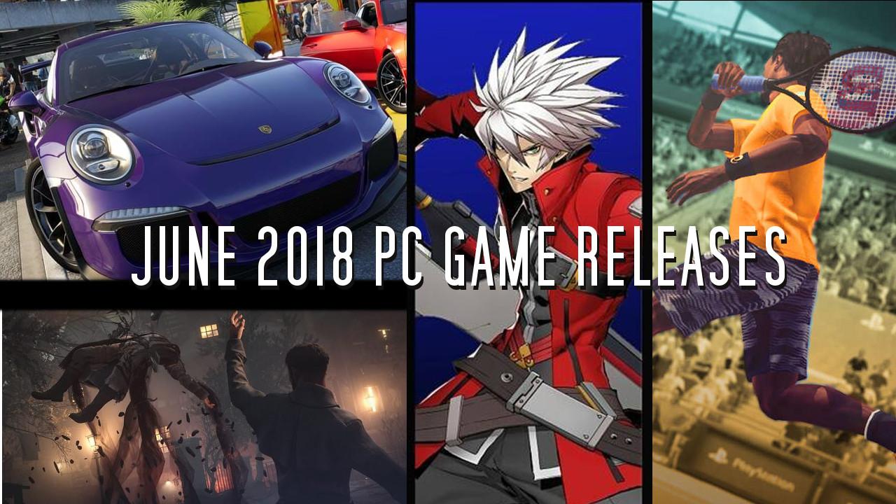 Jeux vidéo juin 2018