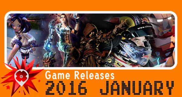 Sorties Jeux vidéos Janvier 2016