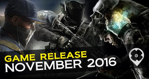 Les sorties de jeux vidéos du mois de Novembre 2016