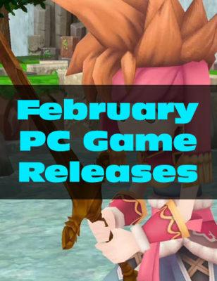 Sorties de jeux sur PC de février 2018