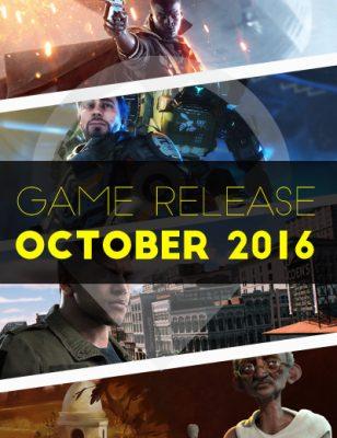 Sorties d'octobre 2016 : Les jeux les plus attendus de l'année !