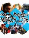 Sorties Jeux Vidéos de Mars 2016