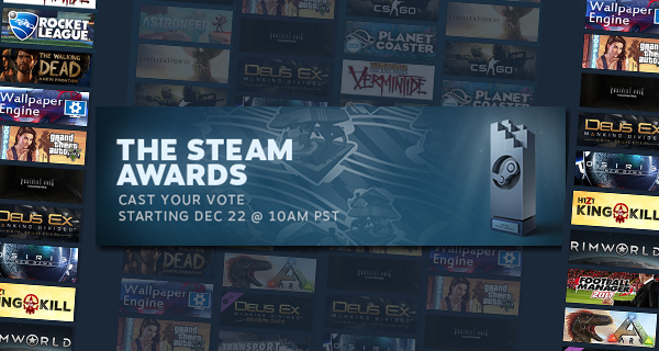 Votes Steam Awards 2016
