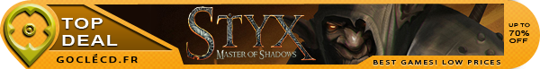 Styx Master of Shadows moins cher