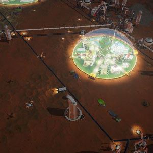 Surviving Mars - dôme du géopanorama