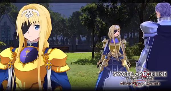 Sword Art Online Alicization Lycoris Nouvelles fonctionnalités de la vidéo Eldrie Synthesis
