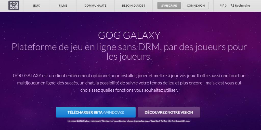 Télécharger le client GoG Galaxy