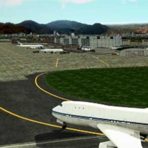 Immense aéroport international