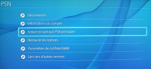 compte primaire ps4