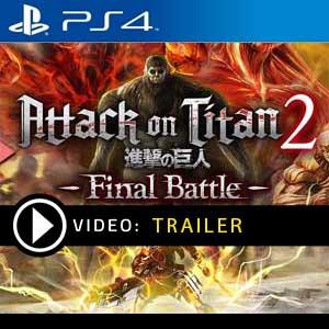 Attack on Titan 2 Final Battle PS4 en boîte ou à télécharger
