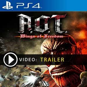 Attack on Titan Wings of Freedom PS4 en boîte ou à télécharger
