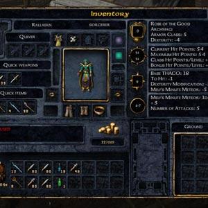 Baldur's Gate Enhanced Edition Joueur Inventaire
