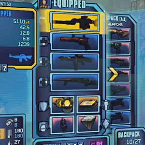 Borderlands 2 Sir Hammerlock's Big Game Hunt Inventaire