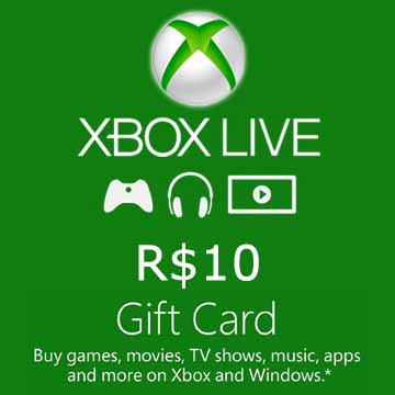 Acheter 10 BRL Gift Card Xbox Live Code Comparateur Prix