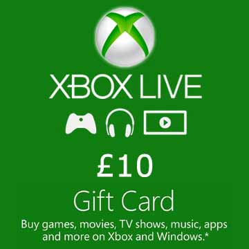 Acheter 10 GPB Gift Card Xbox Live Code Comparateur Prix