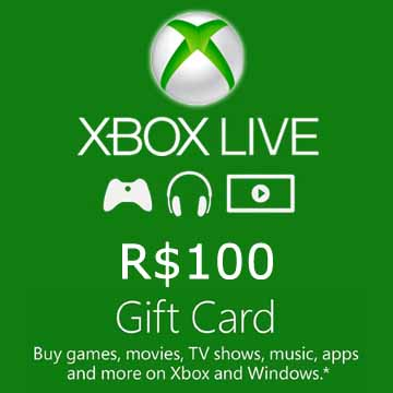 Acheter 100 BRL Gift Card Xbox Live Code Comparateur Prix