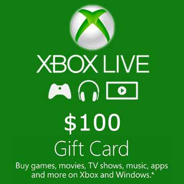 100 Dollars Xbox Live
