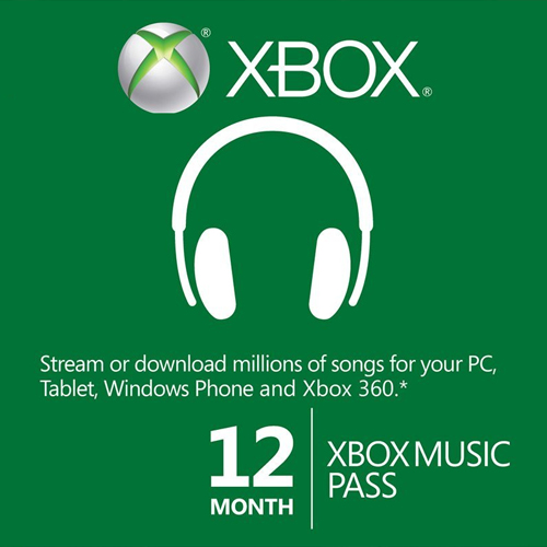 Acheter 12 Mois Xbox Music Pass Xbox one Code Comparateur Prix