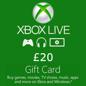 Acheter 20 GPB Gift Card Xbox Live Code Comparateur Prix