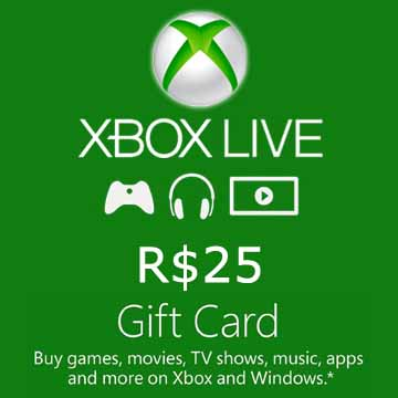 Acheter 25 BRL Gift Card Xbox Live Code Comparateur Prix