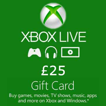 Acheter 25 GPB Gift Card Xbox Live Code Comparateur Prix
