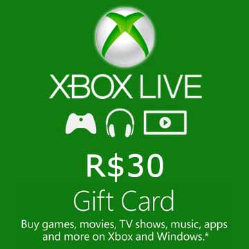 Acheter 30 BRL Gift Card Xbox Live Code Comparateur Prix