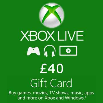Acheter 40 GPB Gift Card Xbox Live Code Comparateur Prix