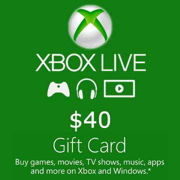 40 dollars Xbox Live